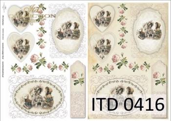 Papier decoupage ITD D0416