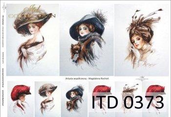 Papier decoupage ITD D0373