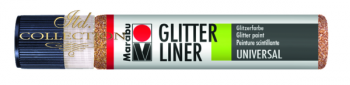 Liner Glitter 25 ml - Red Gold 586