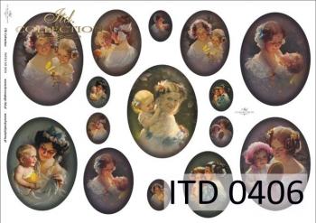 Papier decoupage ITD D0406