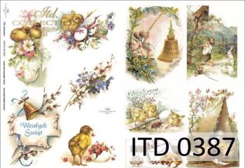 Papier decoupage ITD D0387
