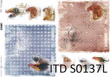 Papier decoupage SOFT ITD S0137L