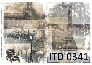 Papier decoupage ITD D0341