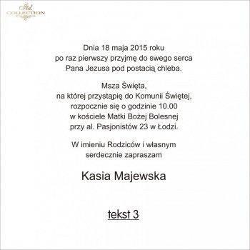 Tekst na komunię - TK3