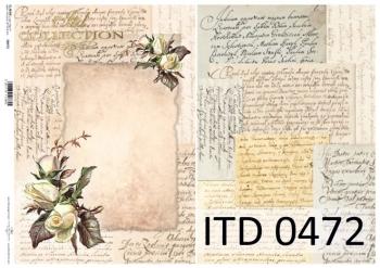 Papier decoupage ITD D0472M