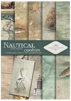 Papier do scrapbookingu SCRAP-048 ''Nautical expedition''