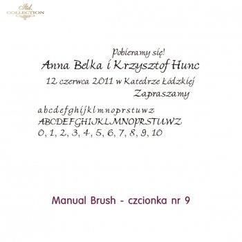 Czcionka na zaproszenie 09