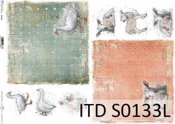 Papier decoupage SOFT ITD S0133L