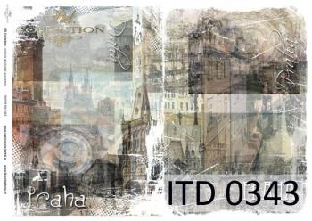 Papier decoupage ITD D0343M