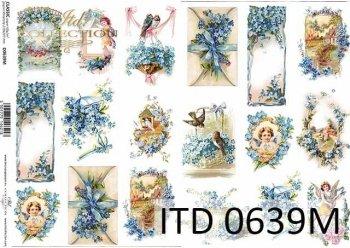 Papier decoupage ITD D0639M