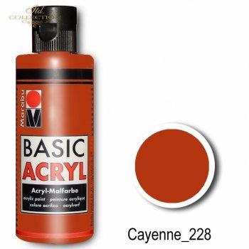 Farba akrylowa Basic Acryl 80 ml Cayenne 228