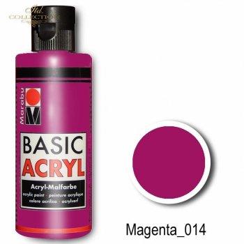 Farba akrylowa Basic Acryl 80 ml Magenta 014