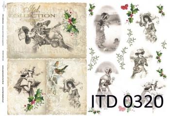 Papier decoupage ITD D0320M