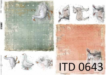 Papier decoupage ITD D0643
