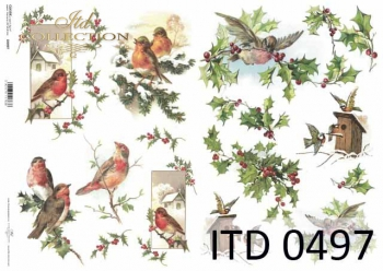 Papier decoupage ITD D0497