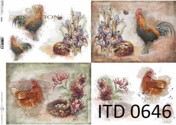 Papier decoupage ITD D0646
