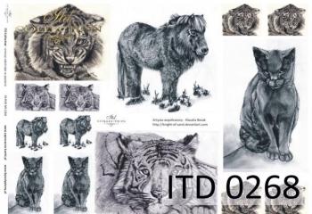 Papier decoupage ITD D0268