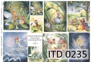 Papier decoupage ITD D0235