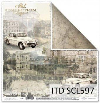 Papier scrapbooking SCL597