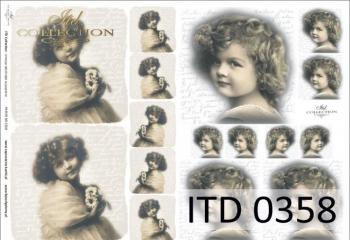 Papier decoupage ITD D0358