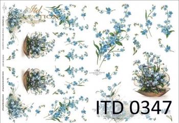 Papier decoupage ITD D0347M