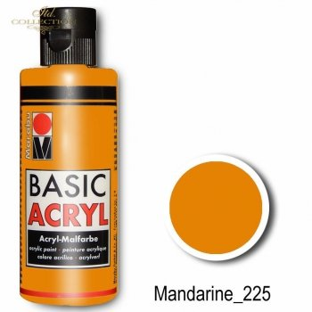 Farba akrylowa Basic Acryl 80 ml Mandarine 225
