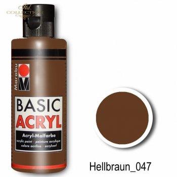 Farba akrylowa Basic Acryl 80 ml Hellbraun 047