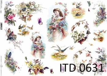 Papier decoupage ITD D0631