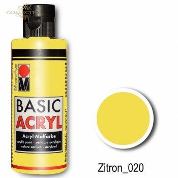 Farba akrylowa Basic Acryl 80 ml Zitron 020