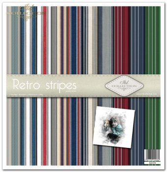 Zestaw do scrapbookingu SLS-016 Retro stripes