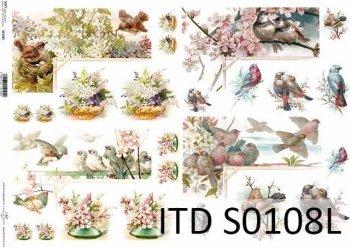 Papier decoupage SOFT ITD S0108L