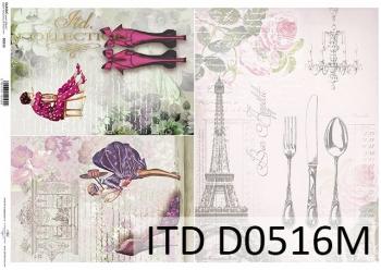 Papier decoupage ITD D0516M