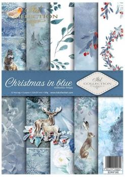 Papier do scrapbookingu SCRAP-049 ''Christmas in blue''