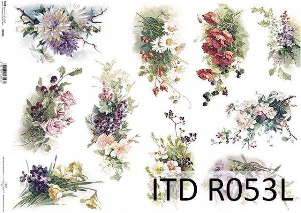 Papier decoupage ryżowy-papier decoupage kwiaty*Rice paper decoupage*Decoupage paper flowers