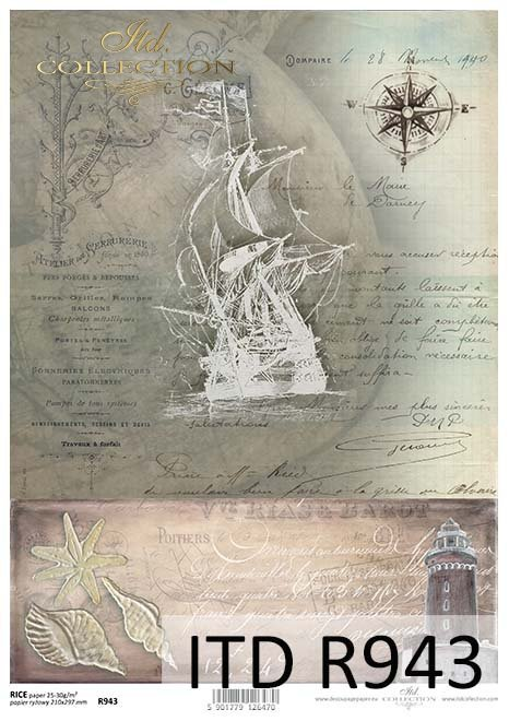 рисовая бумага для декупажа R0943