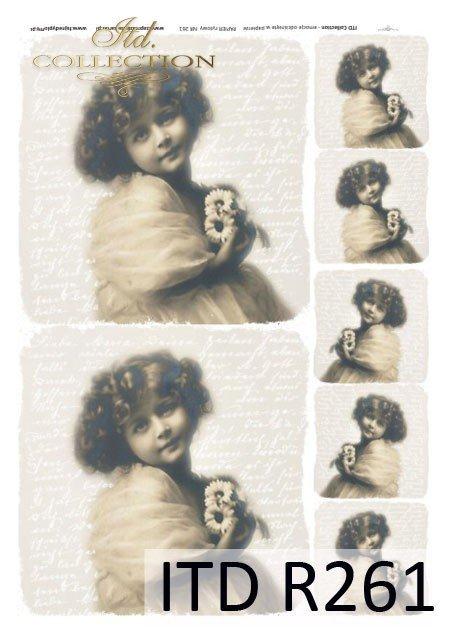 dzieci, dziewczynki, portrety dzieci, styl retro, R261