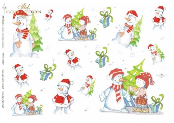 Christmas, winter, snowman, children's, D309, Dorota Marciniak