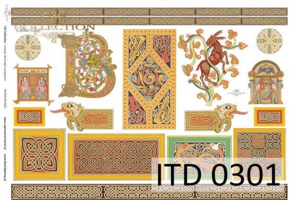 бумага для декупажа классическая D0301