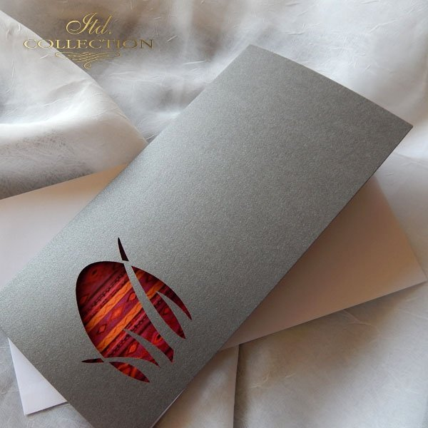 Пасхальная открытка с конвертом KW194