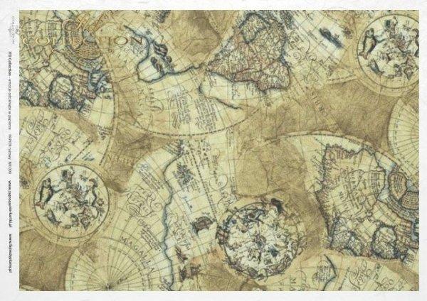 rice paper decoupage - old maps*Reispapier Decoupage - alte Karten*rýžový papír decoupage - staré mapy