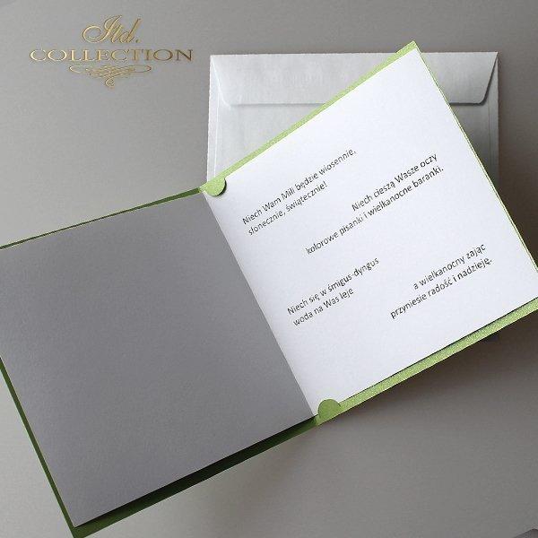 Пасхальная открытка с конвертом KW107