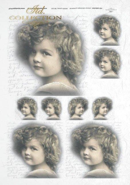 old pictures, children's portrait, children, retro, R263