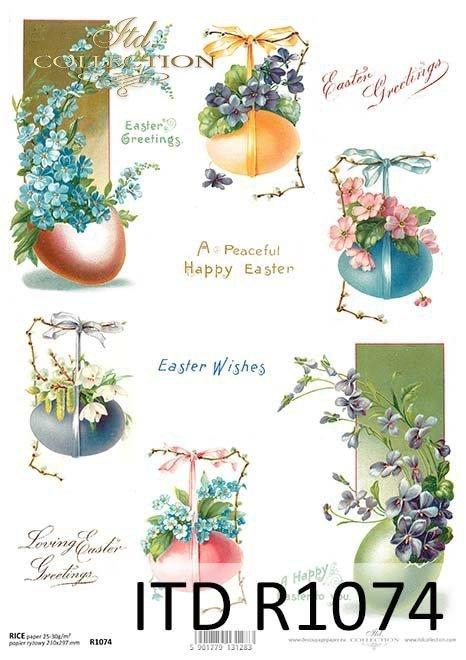 papier decoupage wielkanocny*paper decoupage Easter