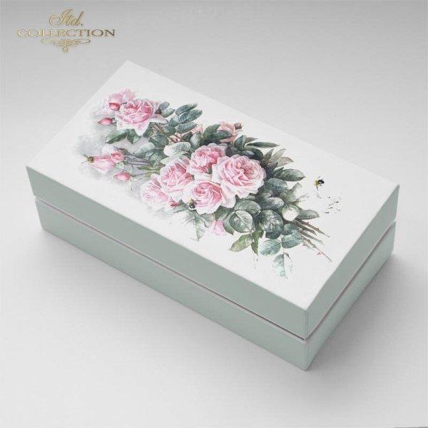 example-01-Vintage-kwiaty-różowe-róże-bukiety-różane-papier-decoupage-ryżowy-R1209
