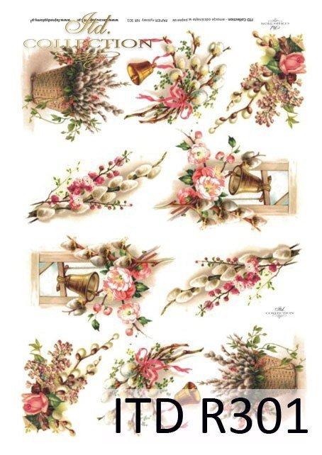 Wielkanoc, bazie, kwiatki, wiosna, jajka, pisanki, dzwonek, R301