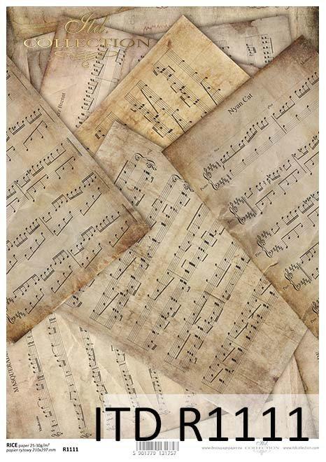 Papier decoupage Vintage*Vintage decoupage paper