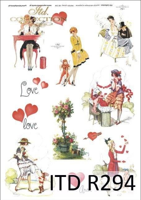 zakochani, Walentynki, serduszka, serduszko, serce, amor, amorek, R294