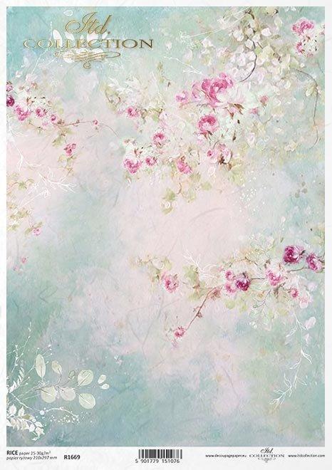 Shabby Chic, tło, tapeta, akwarela, pastelowe róże * Shabby Chic, background, wallpaper, watercolour, pastel roses