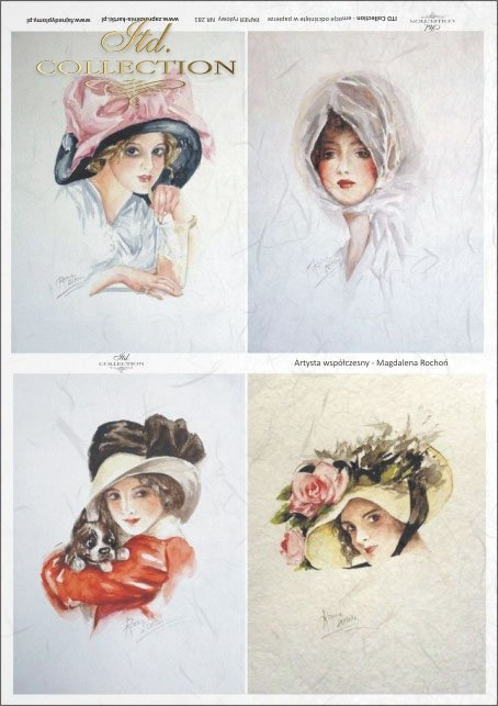 portrait, portraits, women, hairstyle, haircut, hat, retro, lady, Magdalena Rochoń, R0281
