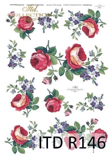 decoupage-rice-paper-forget-me-nots-rose-roses-garden-flower-flowers-R0146